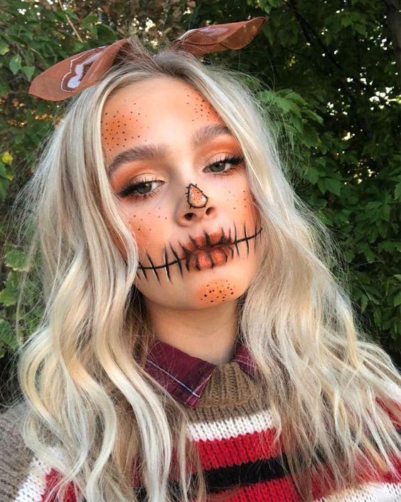 Pretty scarecrow makeup