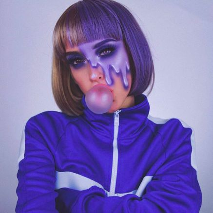 Violet Beauregarde from Charlie and the chocolate factory Halloween costumes and makeup