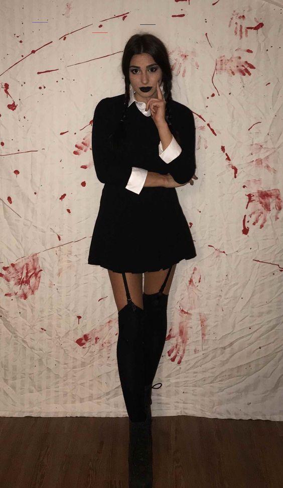 Wednesday Addams - Addams Family Halloween Costumes