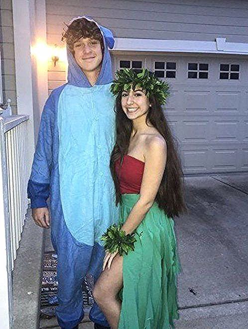 Couples costumes 2020, couples halloween costumes, Lilo and Stitch Halloween costumes, Disney Halloween costumes