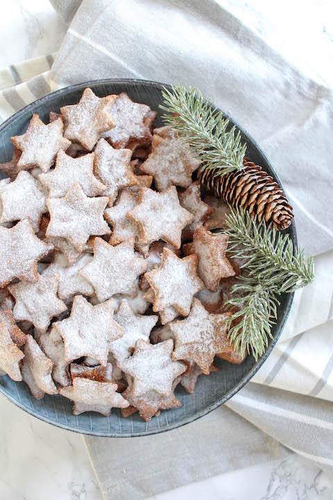 Healthy Almond & Cinnamon Christmas Stars
