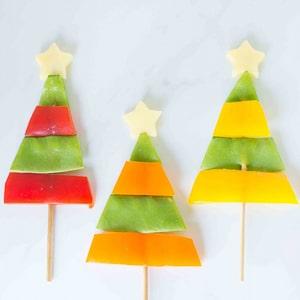 Healthy Vegetable Christmas Tree Snacks
