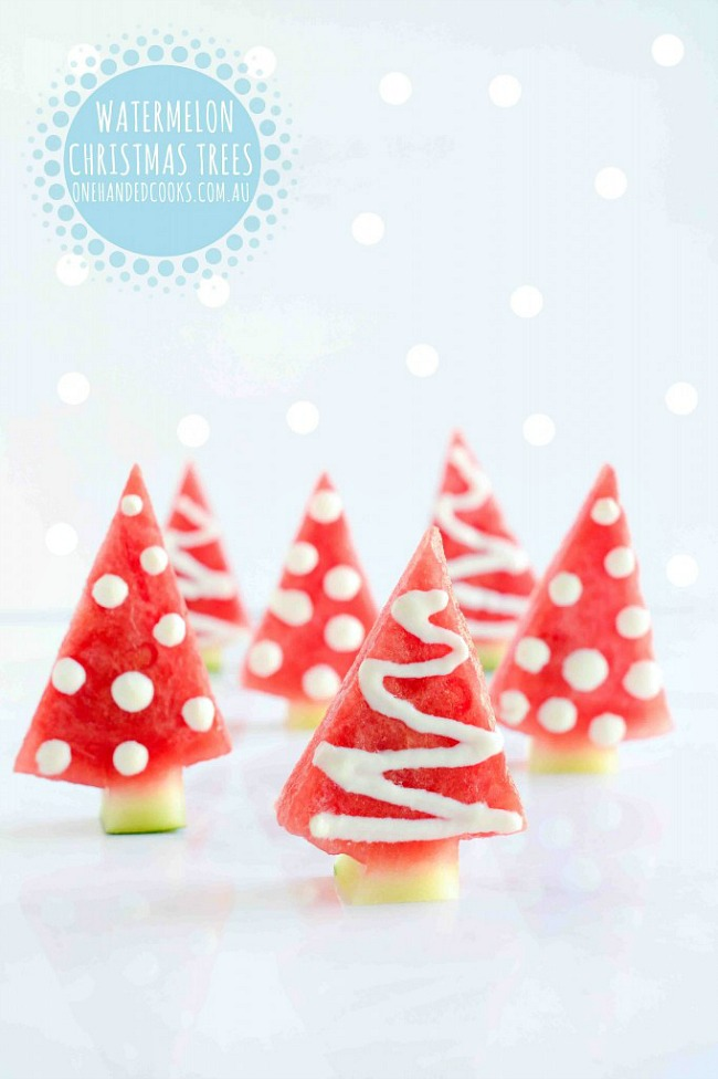 Healthy Watermelon Christmas Tree Snacks