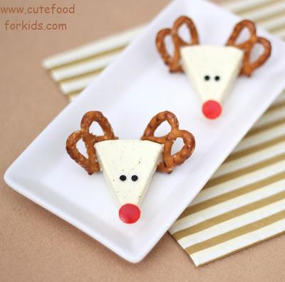 Cute Christmas Treats: Cheese Reindeers