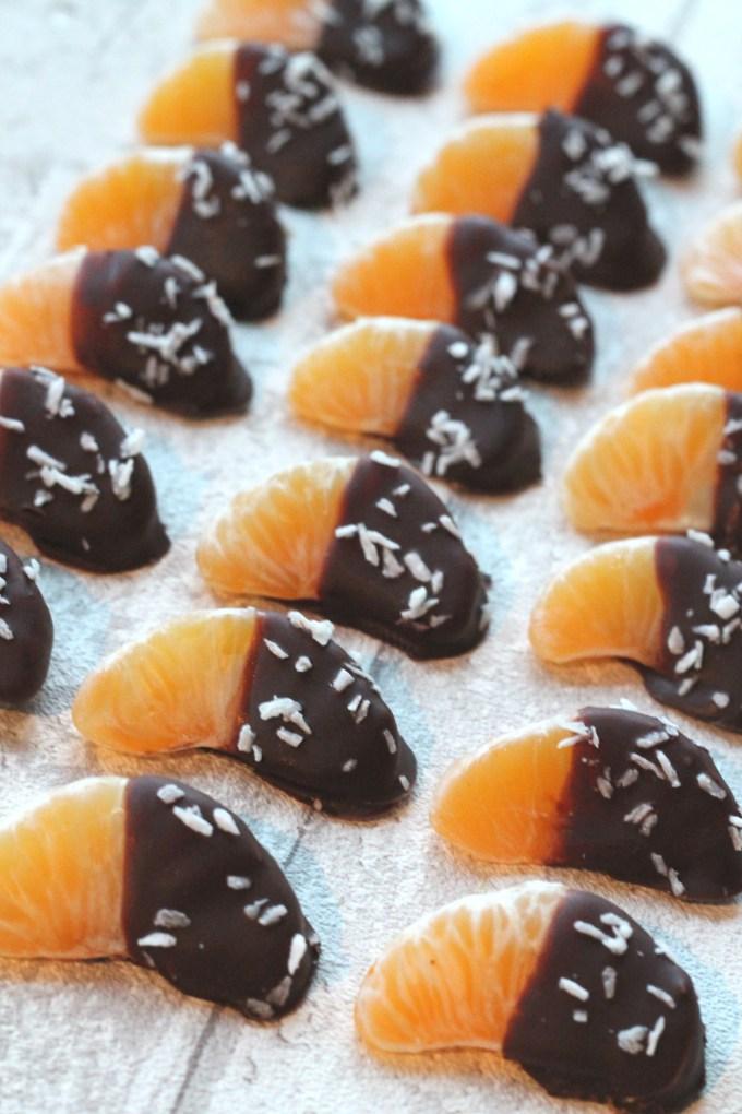 Healthy Christmas treats: Chocolate Dipped Satsumas