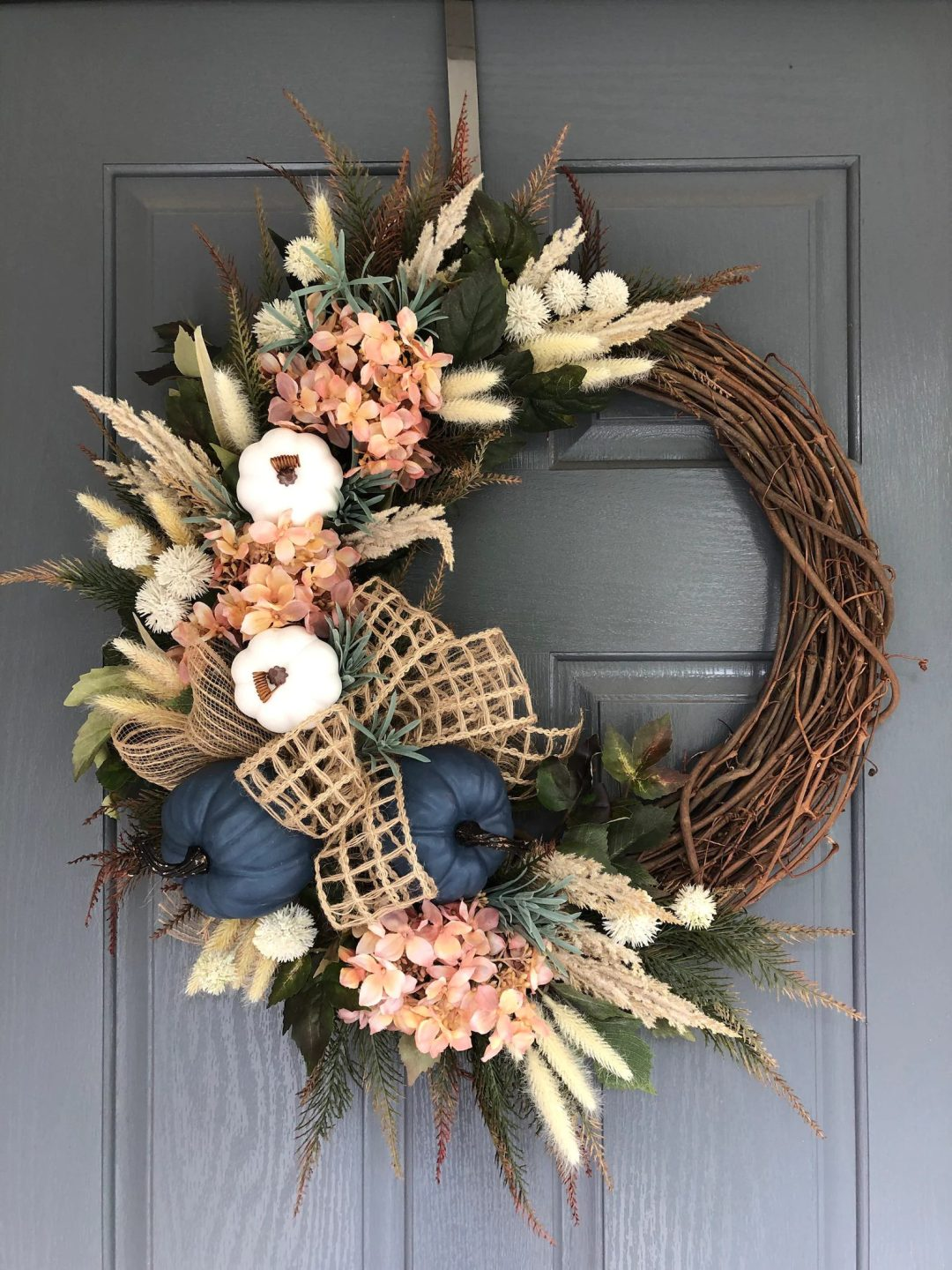 Country fall wreath