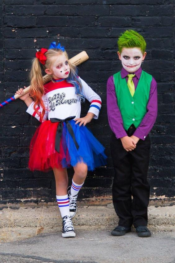 Kids Harley Quinn costume and Joker costume for kids suicide squad