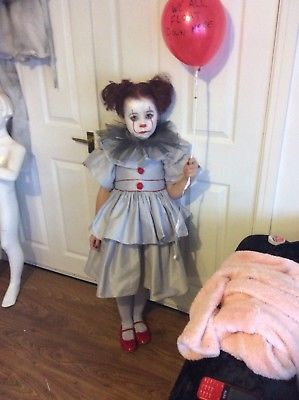 Unique kids costumes - Kids Pennywise Halloween costume for girls, kids clown costumes