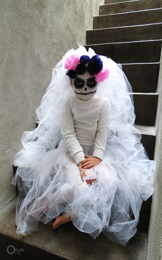 Day of the dead Halloween costume for girls