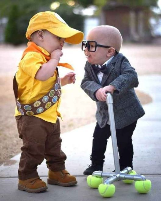 Unique kids Halloween costumes - Russell from Up duo Halloween costume