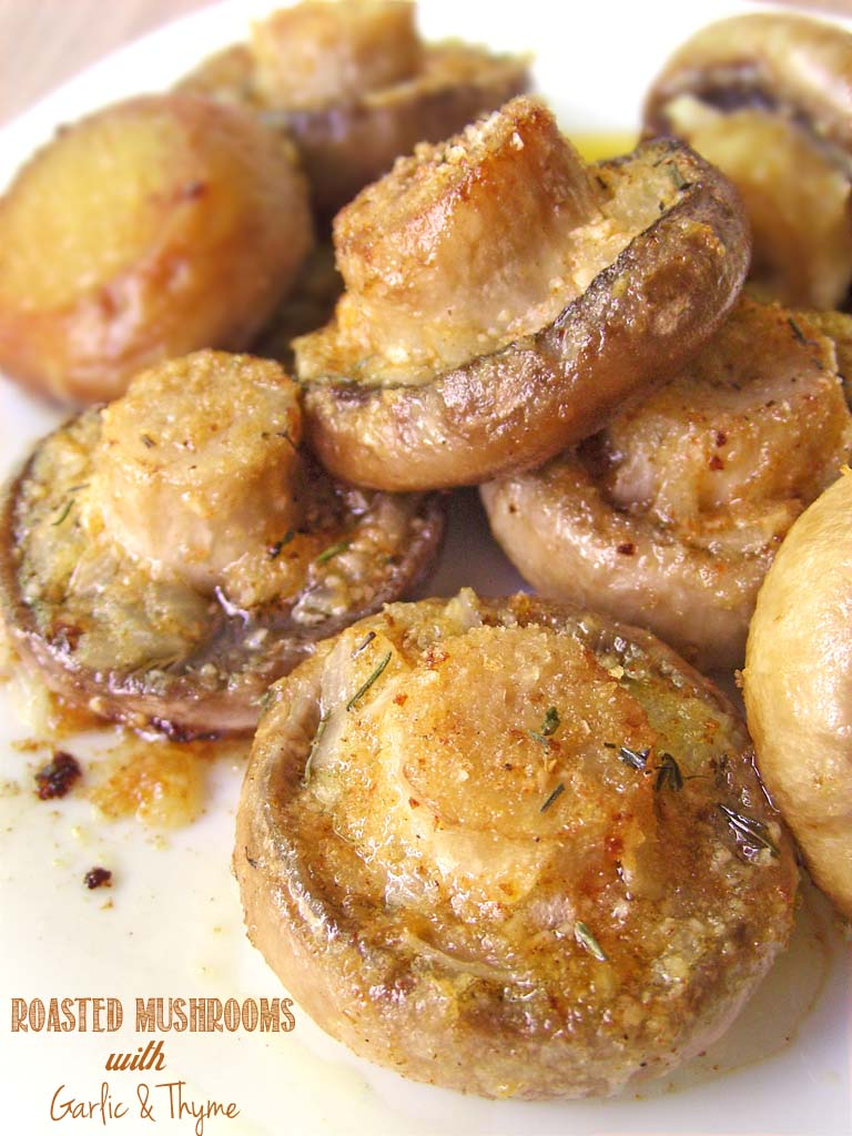 Best keto Thanksgiving sides: Roasted Mushrooms with Garlic & Thyme
