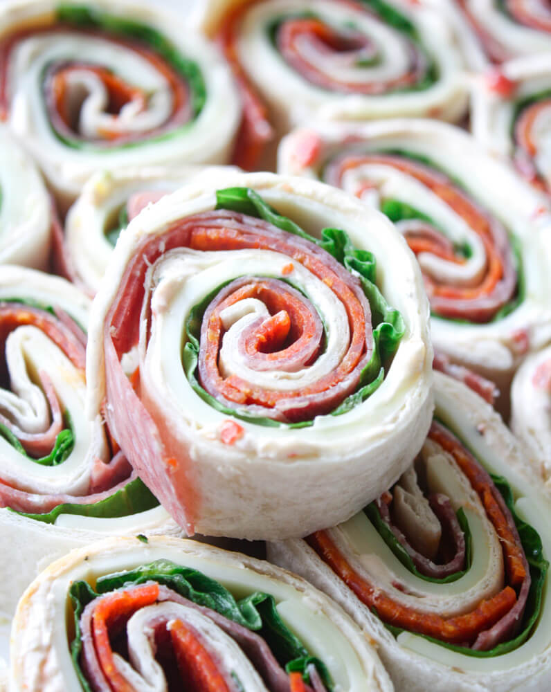Italian Pinwheels With Cream Cheese