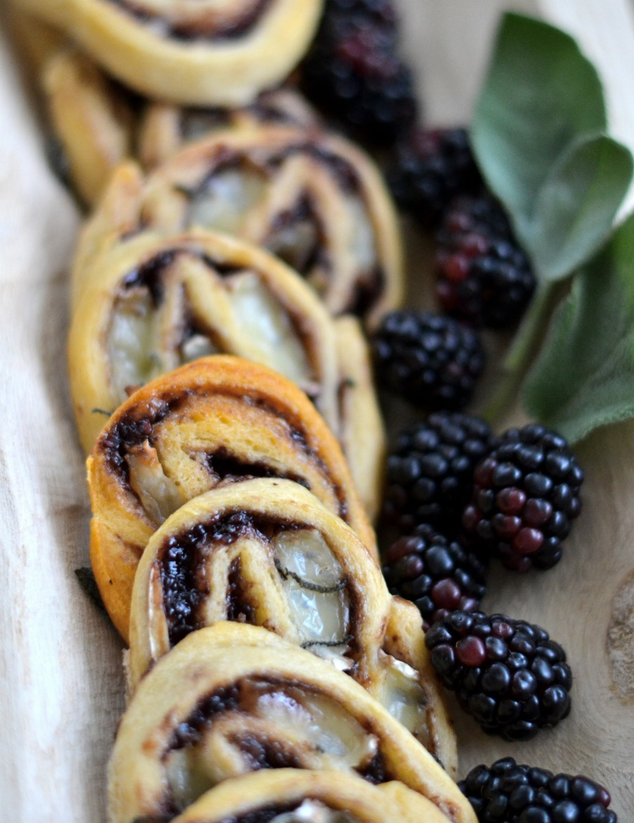 Brie & Blackberry Pinwheels