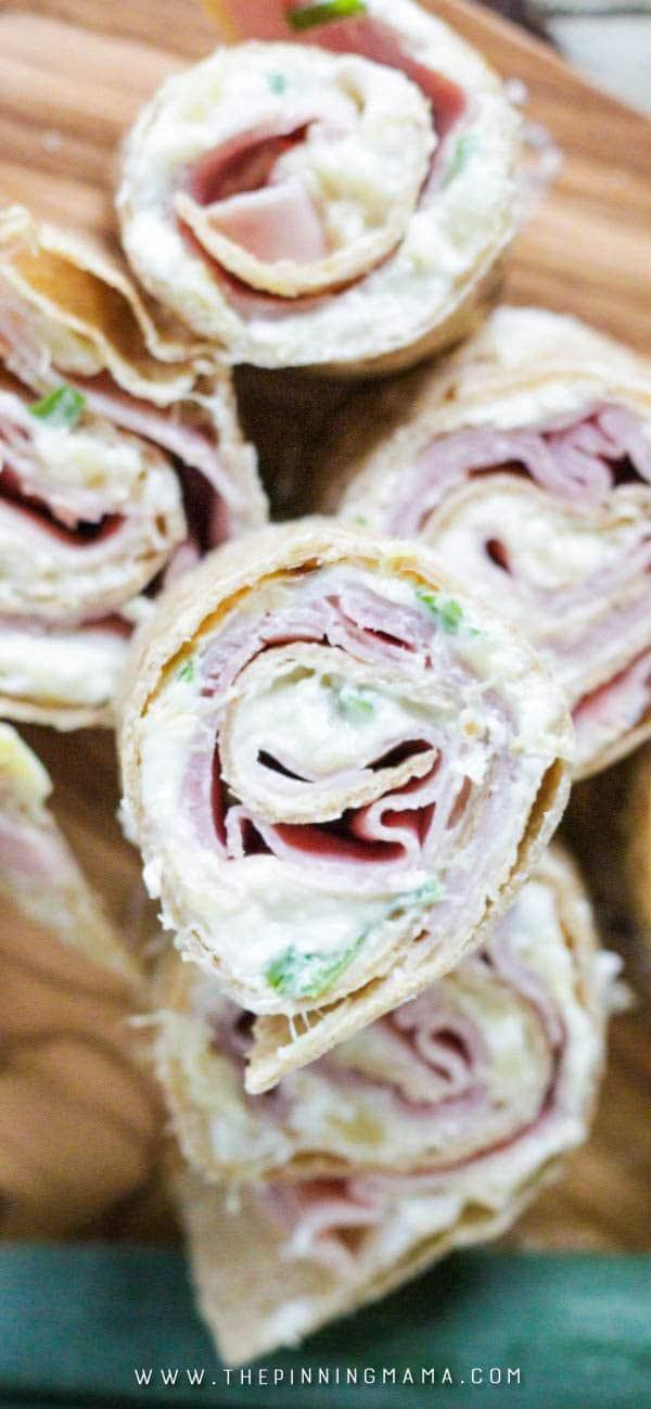 Ham & Pineapple Hawaiian Tortilla Roll Ups