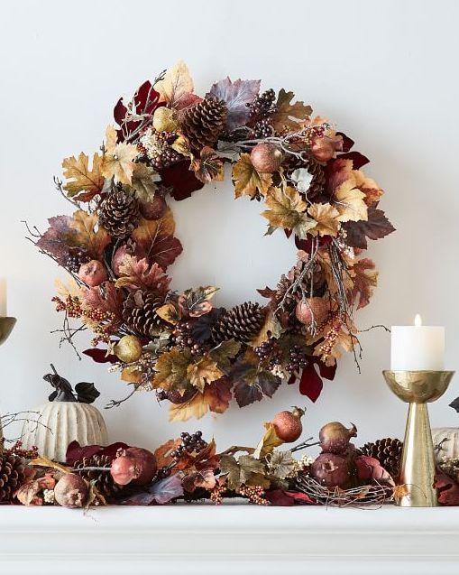 Pinecone fall wreath
