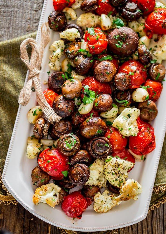 Best Christmas sides: Italian Roasted Mushrooms and Veggies