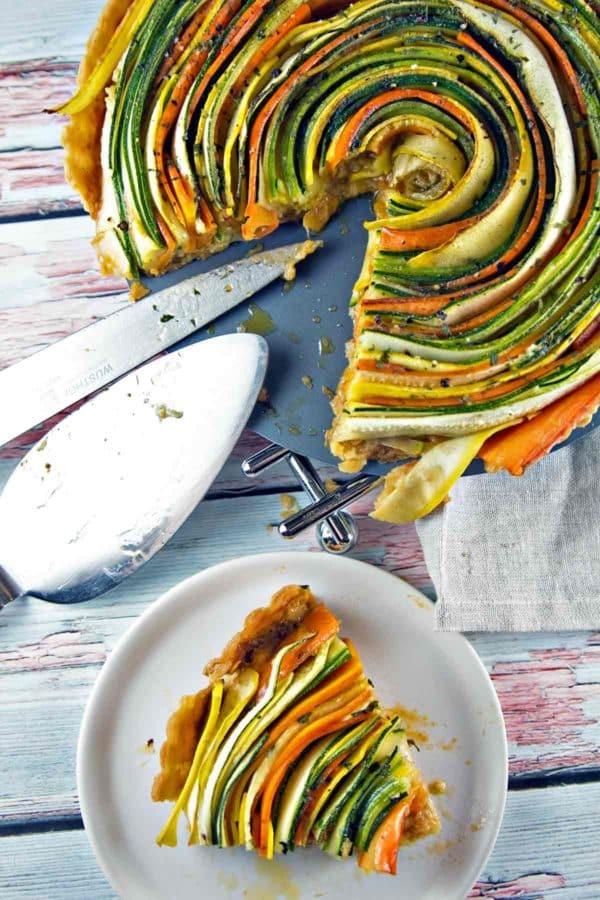 Best Christmas side dishes: Spiral Vegetable Tart