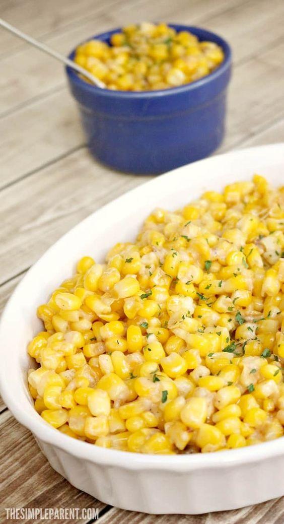 5 Ingredient Parmesan Garlic Butter Corn