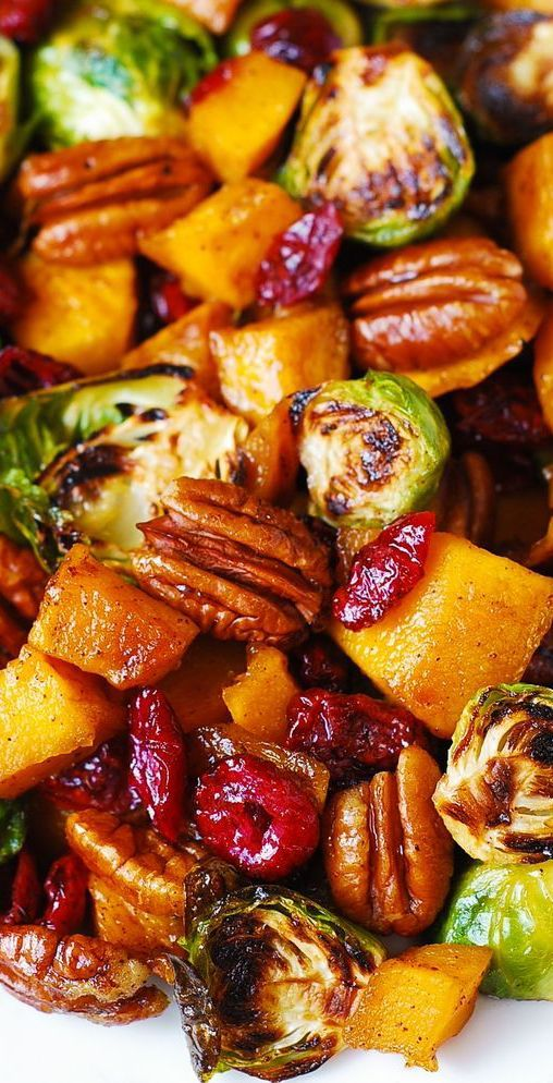 Best Christmas side dishes: Roasted Butternut Squash & Brussels Sprouts