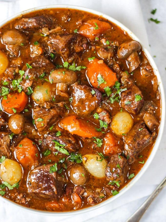 Best fall crockpot recipes: Simple Beef Bourguignon