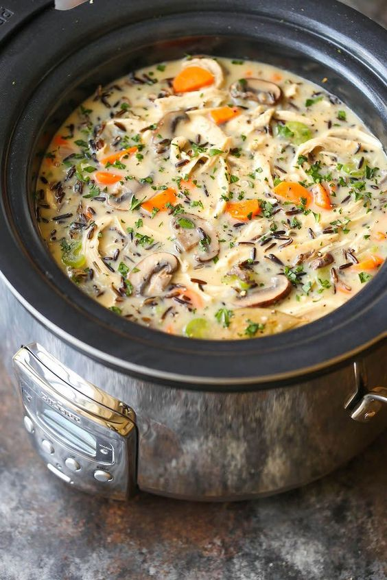 Best fall crockpot recipes: Chicken And Wild Rice Soup