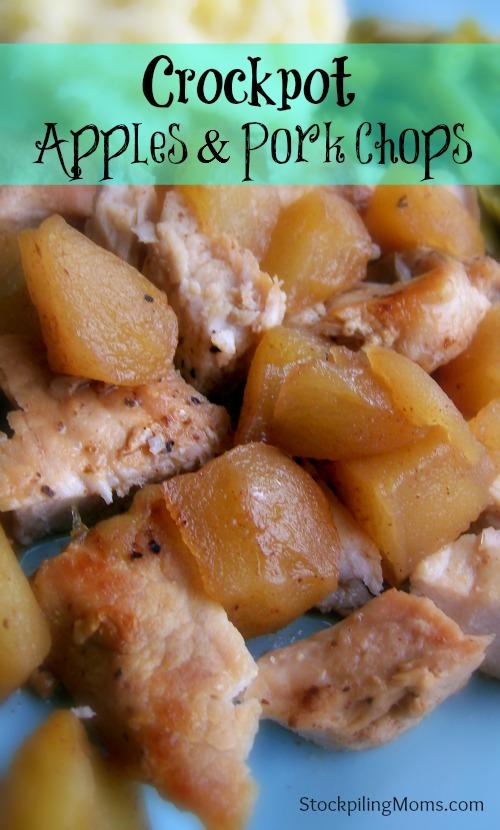 Crockpot Apples and Porkchops