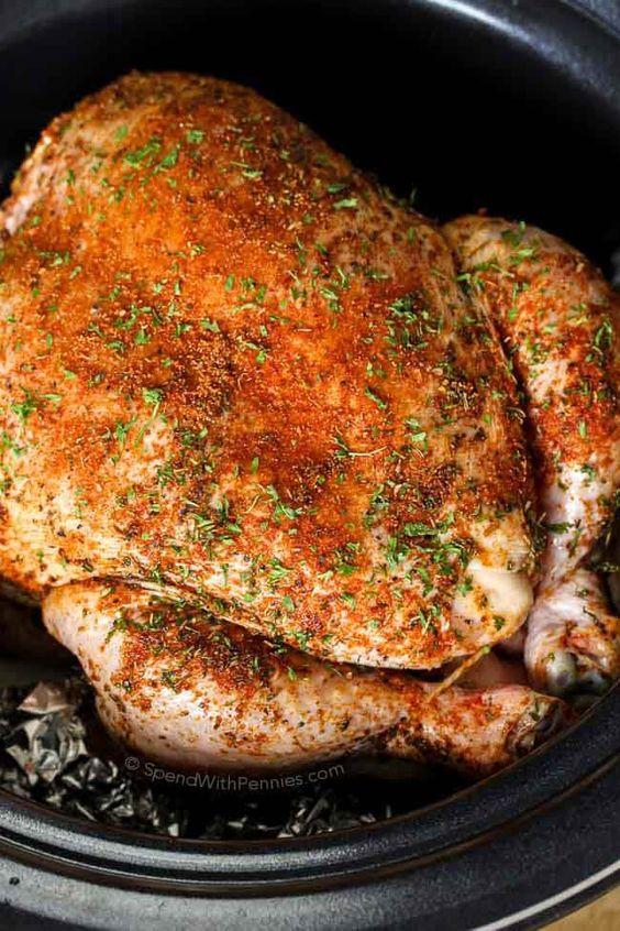 Best fall crockpot recipes: Whole Chicken & Gravy