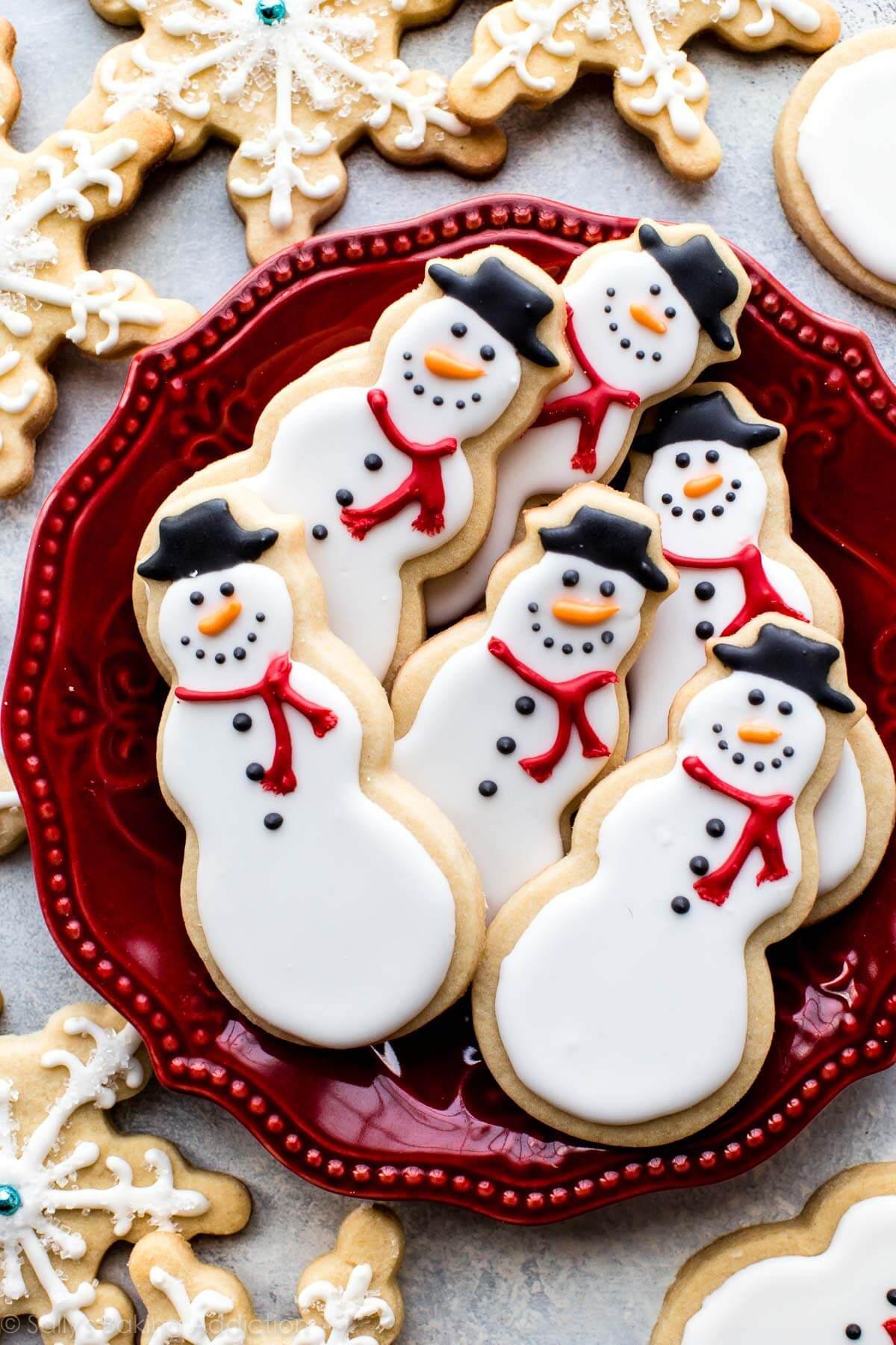 Snowman Christmas Sugar Cookies