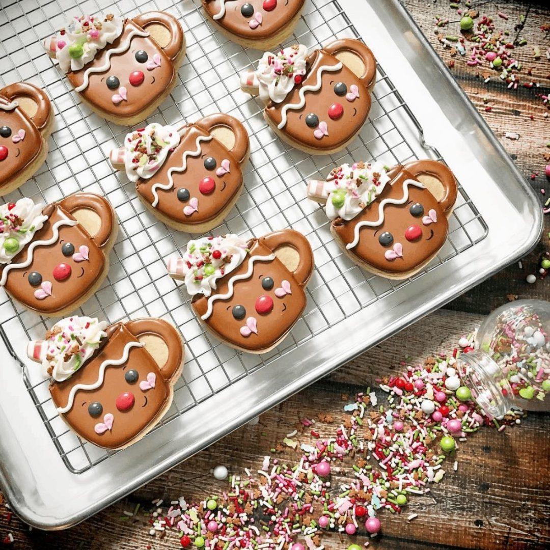 Cute Hot Chocolate Sugar Cookies