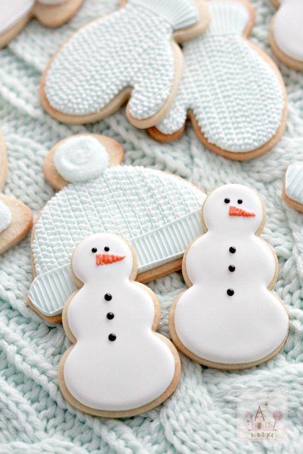 Maple Sugar Cut-Out Snowman Sugar Cookies