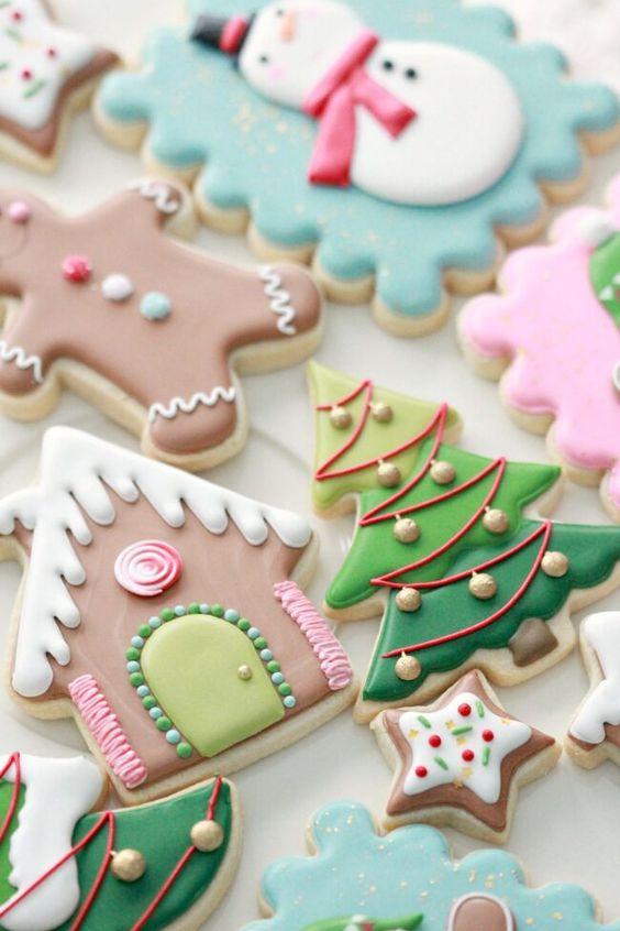 Royal Icing Christmas Sugar Cookies