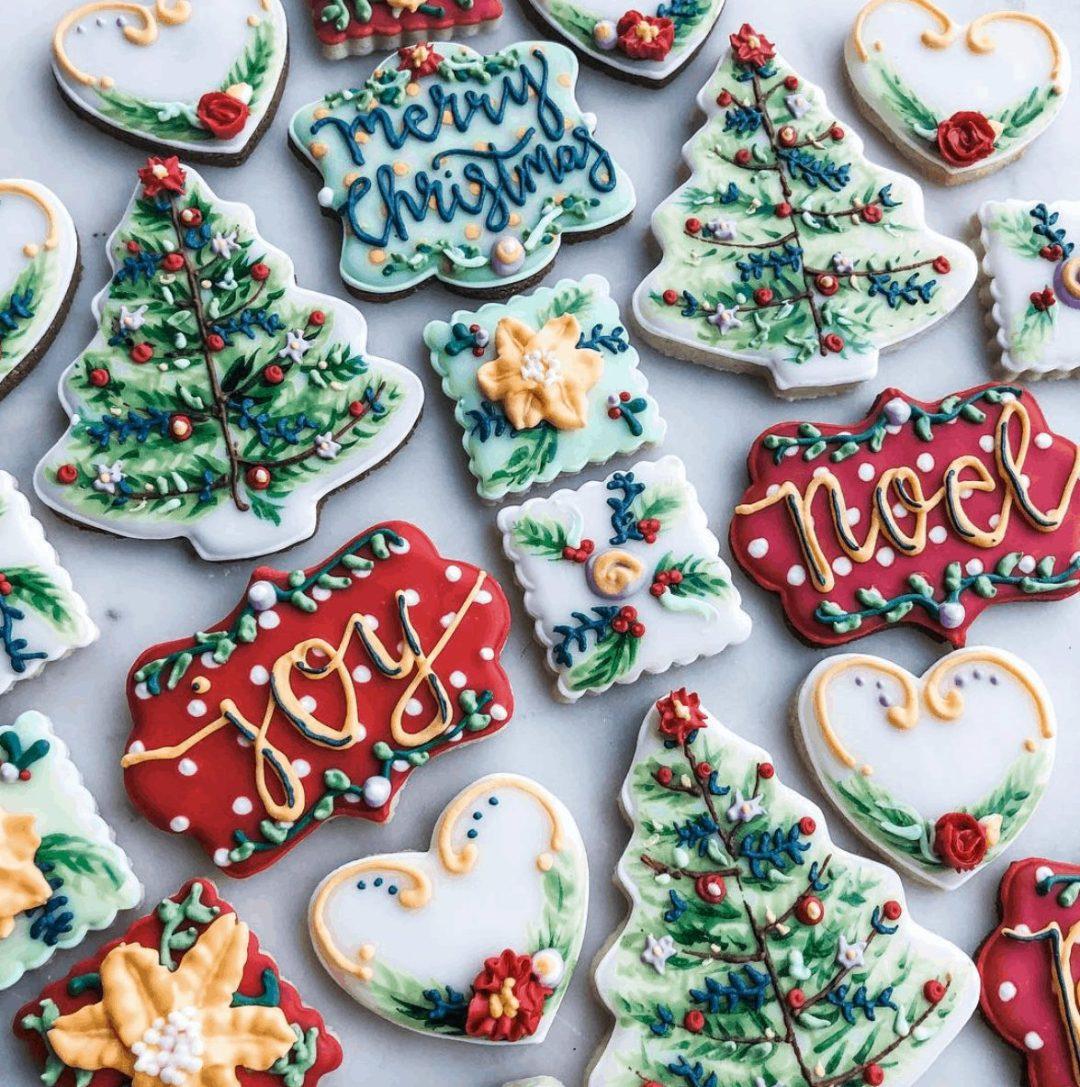 Red & Green Christmas Sugar Cookies