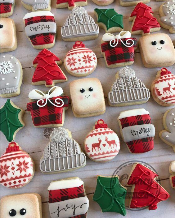 Mini Christmas Themed Sugar Cookies
