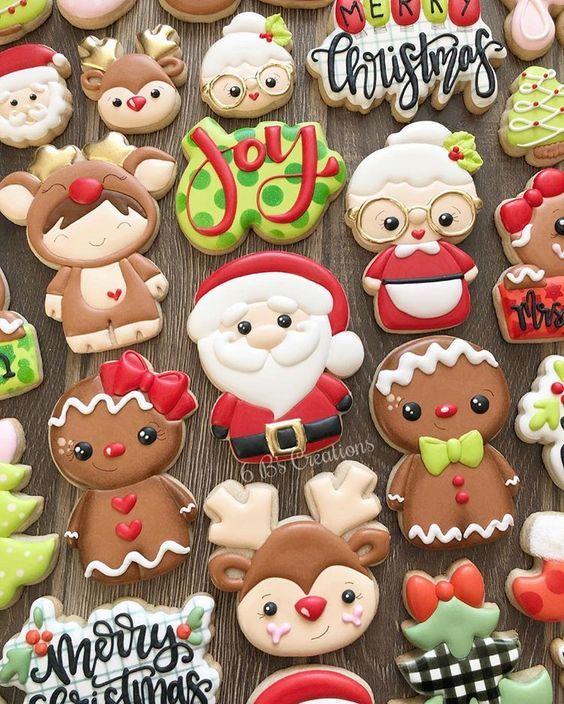Merry Christmas Santa Cookie Set