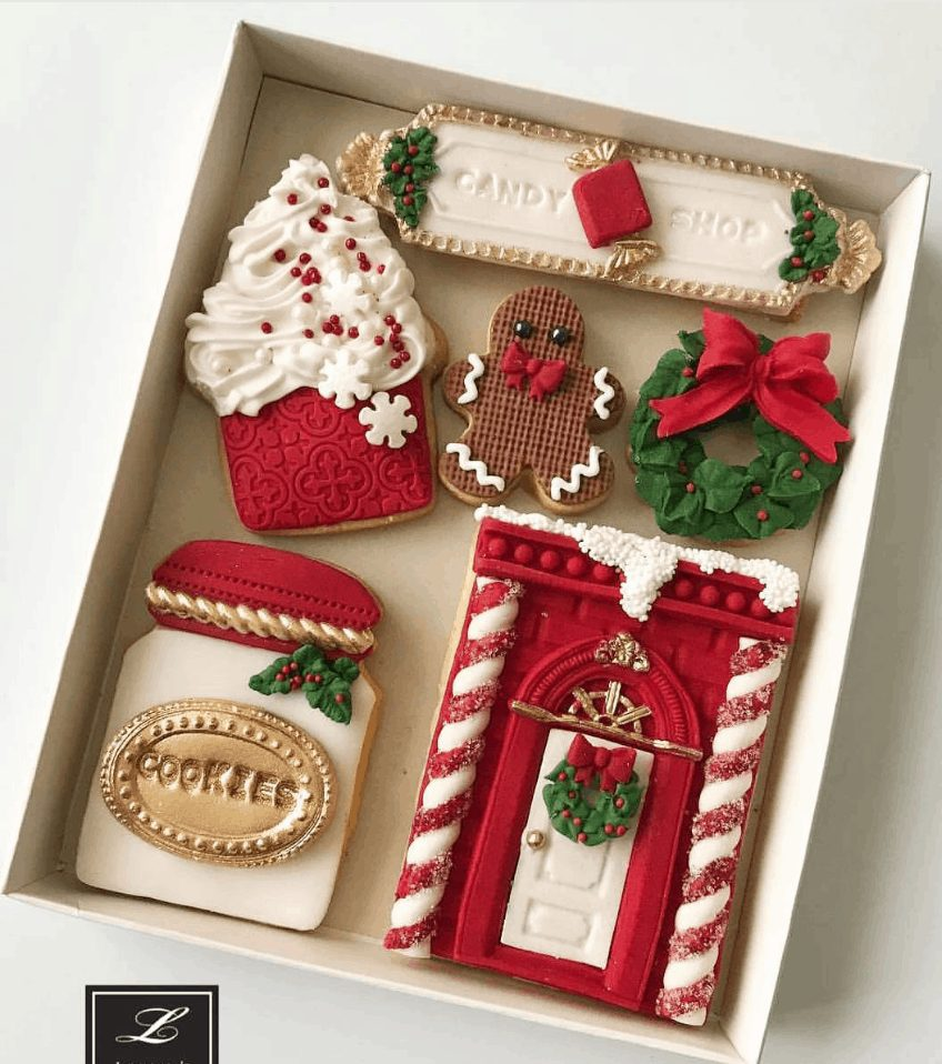 Decorated Christmas Cookie Set
