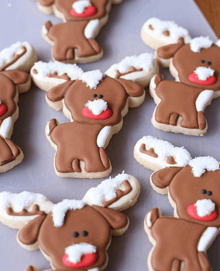 Cute Rudolph Reindeer Sugar Cookies