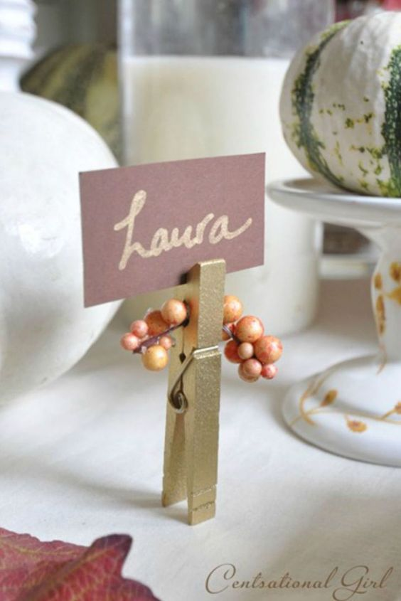 Cute and easy name tag ideas for Thanksgiving