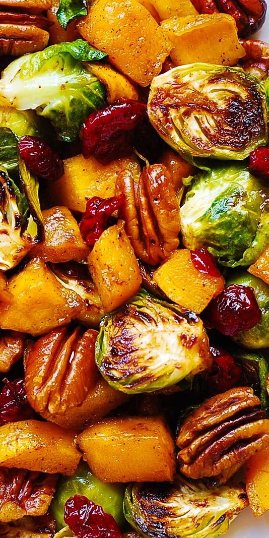 Best Thanksgiving side dishes: Roasted Brussels Sprouts & Cinnamon Butternut Squash