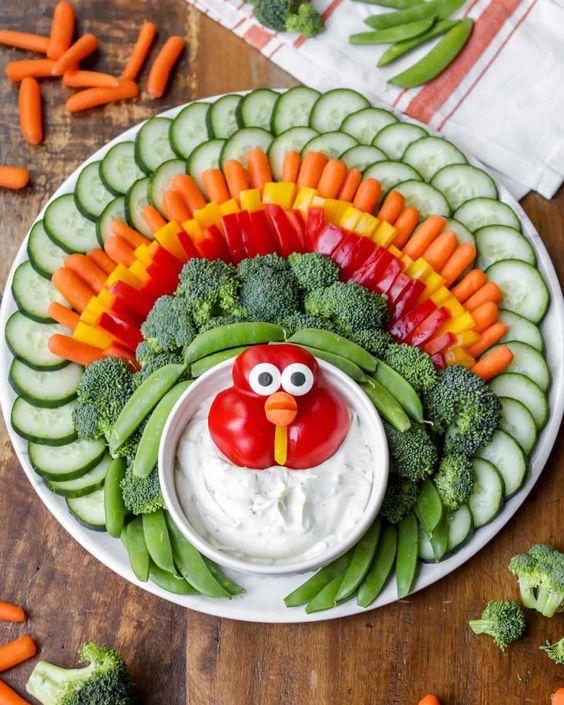 Best Thanksgiving appetizers: Turkey Veggie Tray
