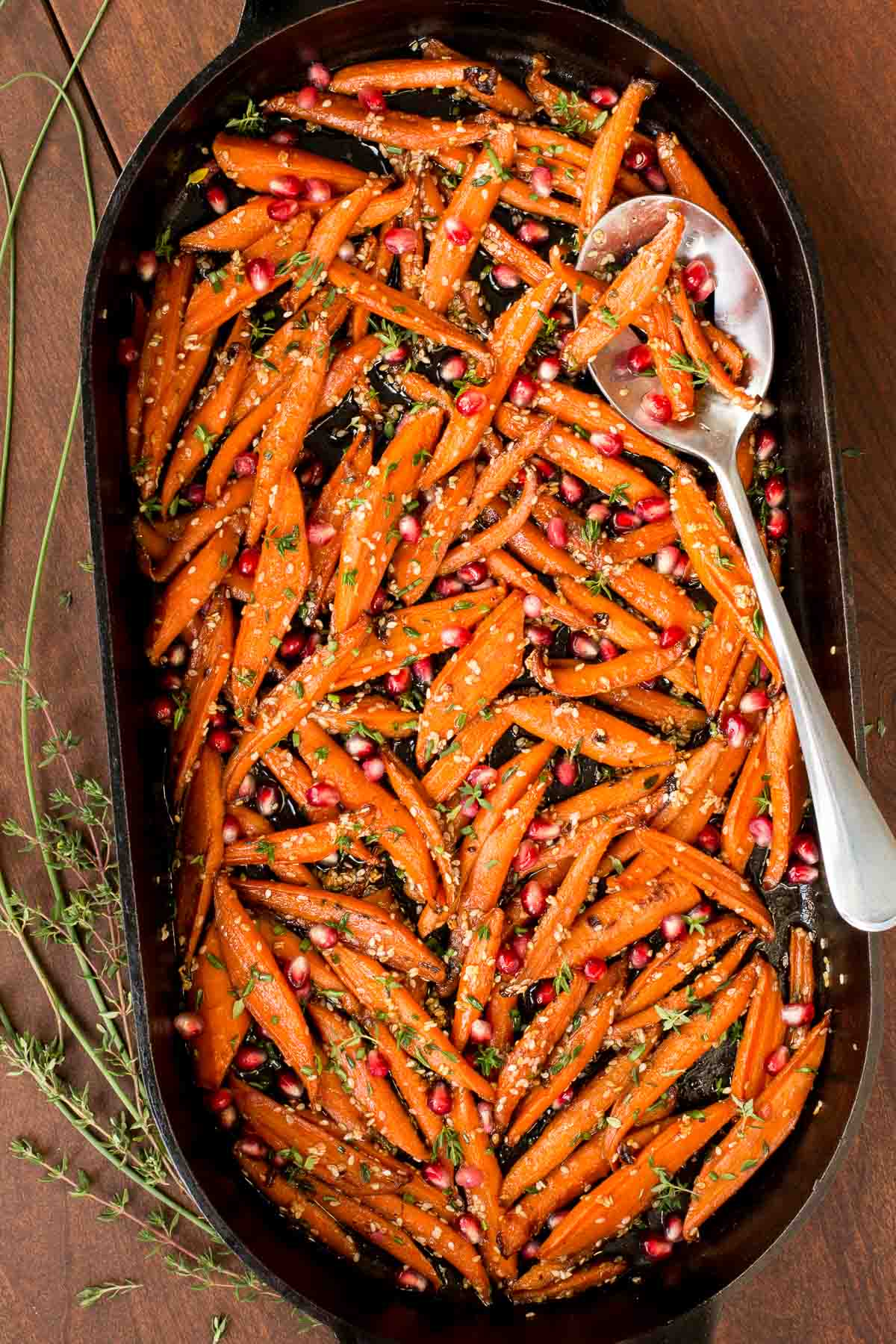 Best Thanksgiving side dishes: Honey Maple Roasted Carrots