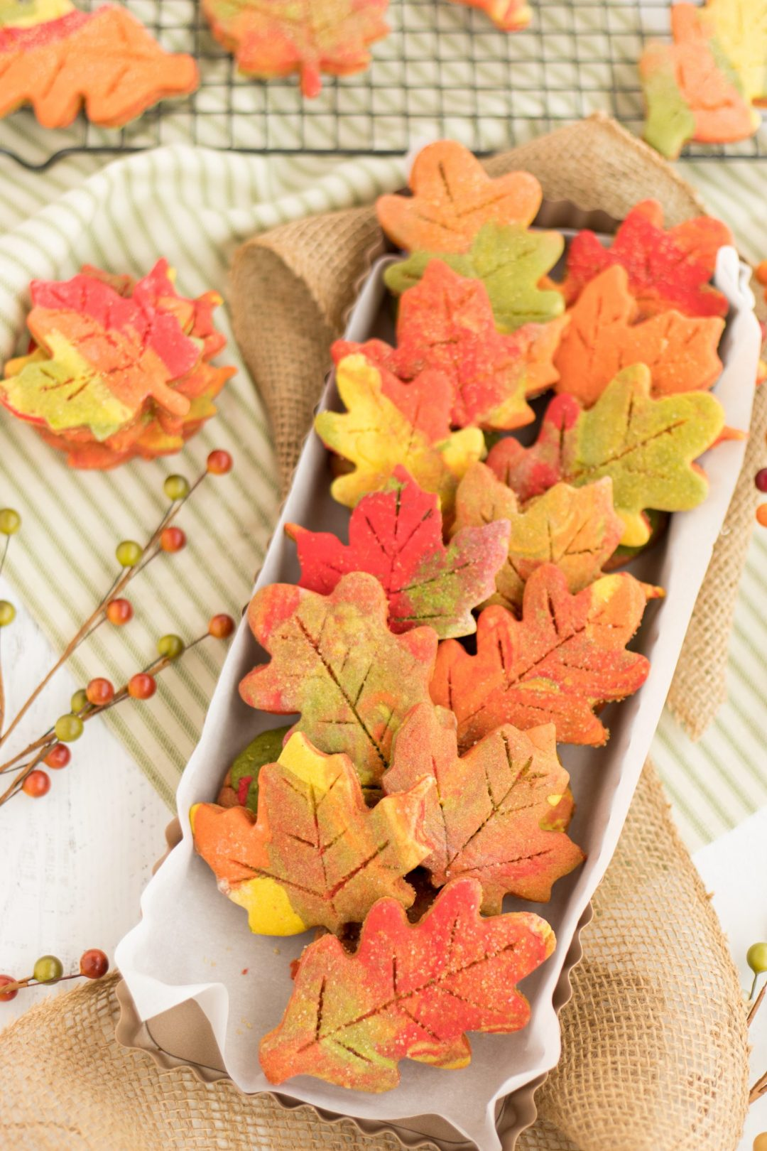Easy Thanksgiving Desserts: Fall Leaf Cut Out Cookies