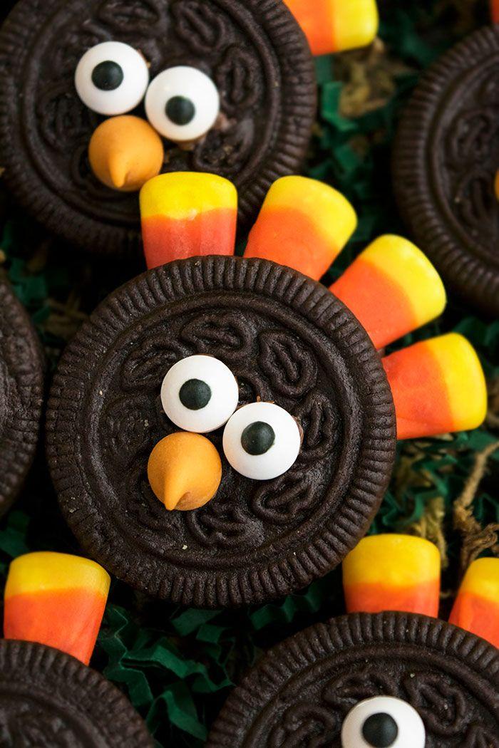 Easy Thanksgiving desserts: Oreo Turkey Cookies