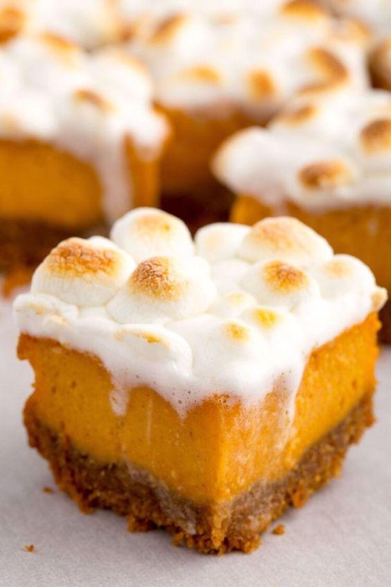 Easy Thanksgiving desserts: Sweet Potato Marshmallow Bars