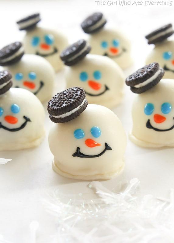 Easy Christmas treats: Melted Snowmen Oreo Balls