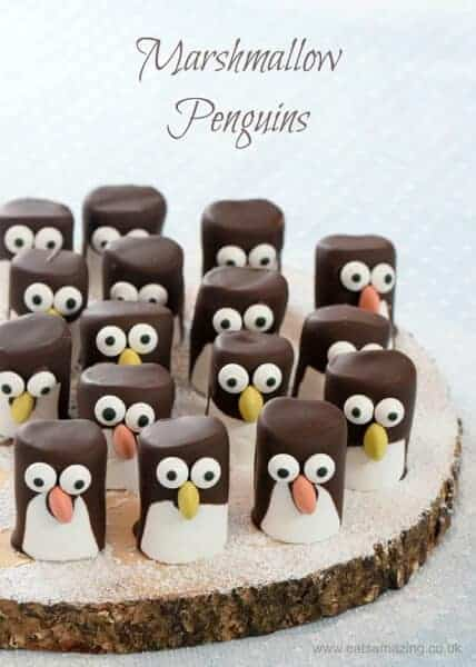 Easy Christmas treats: Marshmallow Penguins