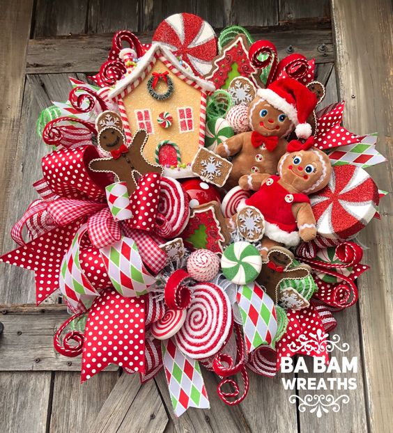 Red Gingerbread Wreath