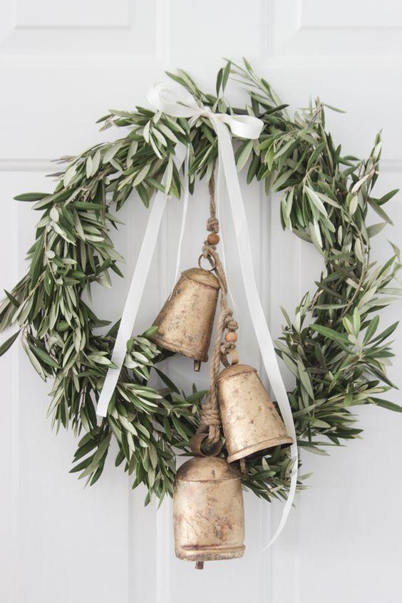 Olive Branch & Bells Wreath