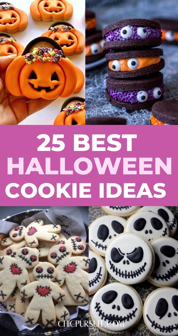25 Easy & Cute Halloween Cookie Ideas Perfect For A Crowd