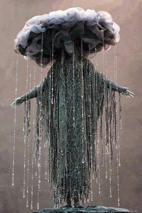Creative storm cloud Halloween costume