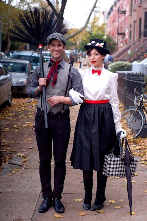 Creative Mary Poppins couples Halloween costume
